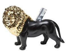 Salvadanaio lion gold