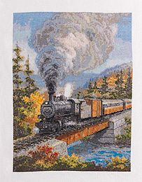 Bucilla ® Counted Cross Stitch - Picture Kits - Train Through the Mountains