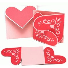 Silhouette Design Store - View Design #53860: card interlock lace heart and envelope set