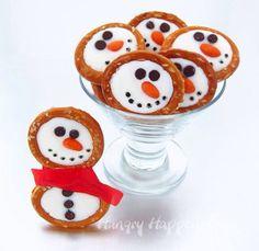Chocolate & Pretzel Snowmen