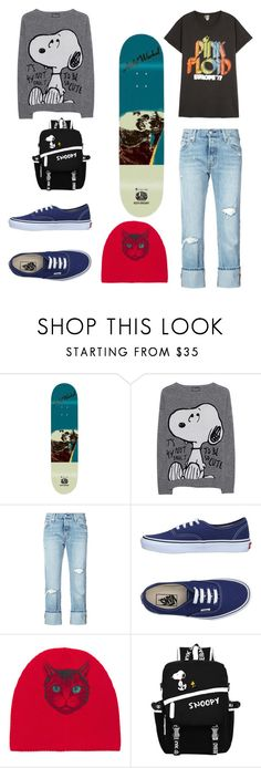 """""""Skatergirl outfit"""" by pris-x ❤ liked on Polyvore featuring Andy Warhol, Princess Goes Hollywood, Levi's, Vans, Gucci and MadeWorn"""