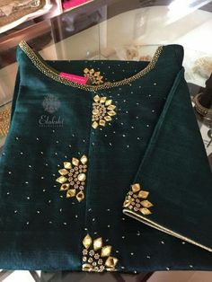 Kurtis has become a very integral outfit it Indian fashion industry. From parties to casual wear for your work every day, Kurtis has become a big fashion s Embroidery On Kurtis, Kurti Embroidery Design, Embroidery Suits, Embroidery Fashion, Hand Embroidery, Embroidery Patterns, Churidar Designs, Kurta Designs Women, Kurti Patterns