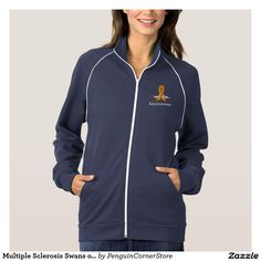 Multiple Sclerosis Swans of Hope American Apparel Fleece Track Jacket