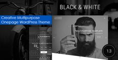 Black&White - Creative Multipurpose WordPress Theme Black&White – creative multipurpose responsive wordpress theme with visual composer page builder. This template created in black and white colors. Can fit to portfolio, photo, art, agency etc.
