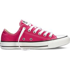 Converse Chuck Taylor All Star Fresh Colors Sneakers ($35) ❤ liked on Polyvore featuring shoes, sneakers, pink, canvas sneakers, converse trainers, pink canvas shoes, star sneakers and pink sneakers