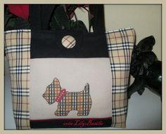 Sac Scottish...broderie point de croix et couture. cross stitch.....
