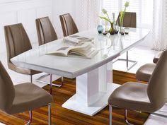Esstisch ausziehbar weiß klein  Esstisch Tisch Esszimmertisch ausziehbar Kernbuche massiv geölt ...