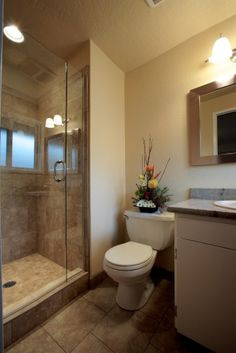Large floor tile, medium shower wall tile, small shower floor tile