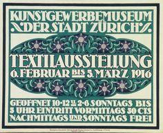 Textilausstellung – O. Welti, 1916