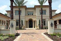 Home Design, Modern House Design, Villa Design, Mediterranean Homes Exterior, Mediterranean House Plans, Mediterranean Style, Country Modern Home, Country House Design, Master Suite