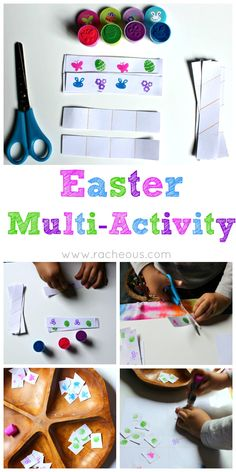 Easter Multi-Activity inspired by Montessori for Fine Motor fun Easter Activities, Spring Activities, Creative Activities, Preschool Crafts, Easter Crafts, Activities For Kids, Crafts For Kids, Easter Ideas, Easter Printables