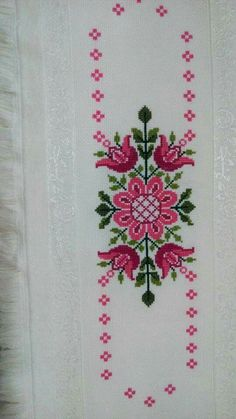 The most beautiful cross-stitch pattern - Knitting, Crochet Love Cross Stitch Letters, Cross Stitch Bookmarks, Cross Stitch Borders, Cross Stitch Samplers, Modern Cross Stitch, Cross Stitch Flowers, Cross Stitching, Cross Stitch Embroidery, Hand Embroidery