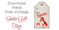 Free Printable Vintage Santa Gift Tags