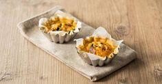 Recette de Mini quiches légères sans pâte au potimarron. Facile et rapide à réaliser, goûteuse et diététique. Ingrédients, préparation et recettes associées.