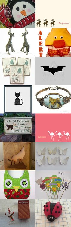 Creatures to love.  by Jeanie Allen on Etsy--Pinned with TreasuryPin.com #novemberfinds