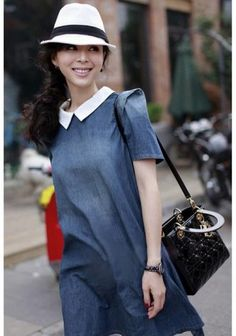 WHOLESALE NEW WOMEN'S EUROPEAN AND AMERICAN FASHION DENIM CASUAL DRESS 1238
