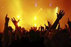 Being in the middle of a pumped crowd at a live music gig #BeAHappyBunny