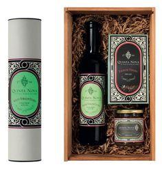 Quinta Nova Gourmet, Caixa de Madeira, Pack Natal, Azeite Extra Virgem, Tisana e Compota