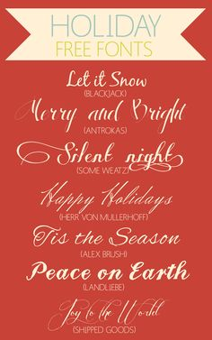 free holiday script fonts -- Curated by : Rapid Printing Kelowna 129-1889 Springfield Road Kelowna,BC V1Y 5V5 (250) 860-2200