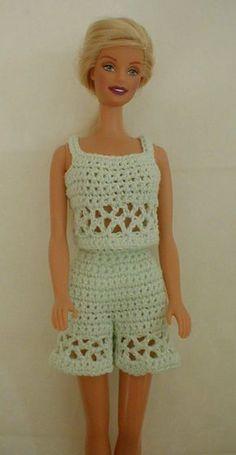 Barbie dress free pattern barbie pinterest barbie dress shorts and top free pattern by annelise thiilborg on hobbymukke barbie patternsdoll clothes patternscrochet dt1010fo