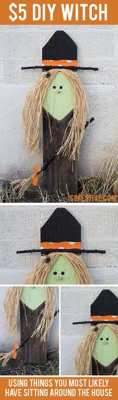 Learn how to make this adorable witch decoration for only $5!