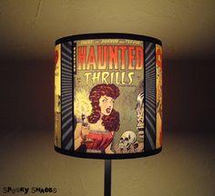 Comic Covers geek lamp shade lampshade - comic book, geekery, pop culture, cool gift, halloween, children, dorm room decor, geeky home decor