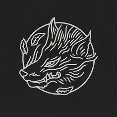 Japanese inspired fox/wolf. Art by Liam Ashurst