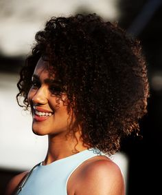 Nathalie Emmanuel attends the Game of Thrones Season 5 Premiere in San Francisco