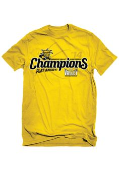Wichita State (WSU) Shockers T-Shirt - Gold WSU Basic Short Sleeve Tee http://www.rallyhouse.com/college/wichita-state-shockers/a/mens/b/clothing/c/t-shirts/d/short-sleeve?utm_source=pinterest&utm_medium=social&utm_campaign=Pinterest-WSUShockers $19.99