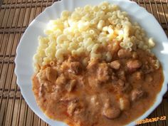 Cheeseburger Chowder, Risotto, Macaroni And Cheese, Menu, Soup, Ethnic Recipes, Red Peppers, Meat, Easy Meals