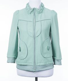 Look at this #zulilyfind! Green Motorist Jacket #zulilyfinds