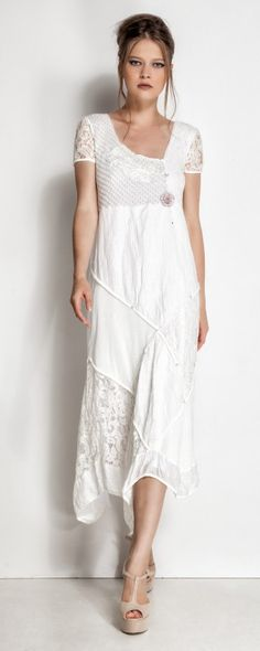 Shop Keepsake white High Neck Lace Dress 30171148 for Women in UAE - Look Boho, Bohemian Style, Boho Chic, Chic Outfits, Pretty Outfits, Beautiful Outfits, Gorgeous Dress, White Fashion, Boho Fashion