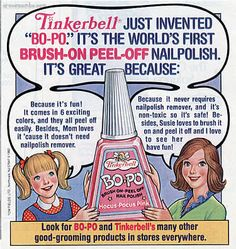Remember Bo-Po Nail Polish?? It peeled off instead of using nail polish remover. I had this stuff!