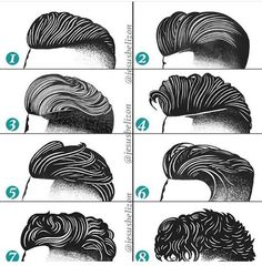 Terrific Hairstyles For Men Undercut By Jesús Belizón Drawing Fashion Hairstyles Haircuts, Haircuts For Men, Braided Hairstyles, Haircut Men, Fashion Hairstyles, Drawing Hairstyles, Trendy Hairstyles, Hair And Beard Styles, Curly Hair Styles