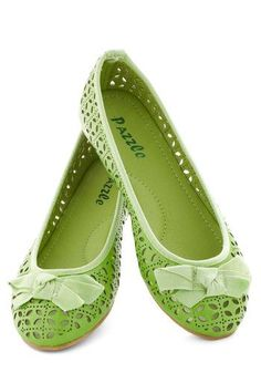 Lime flat shoes