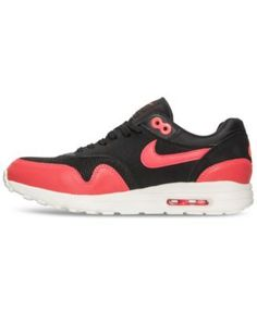 Nike Women's Air Max 1 Ultra 2.0 Running Sneakers from Finish Line - Black  10