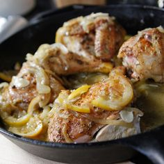 Skillet-Roasted Lemon Chicken By Ina Garten