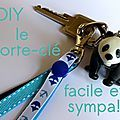 [diy] le porte clé - grigri de sac pour les petits et pour les grands