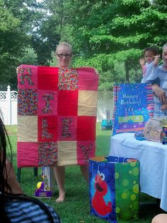 1st birthday custom quilt