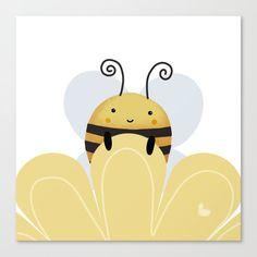 Bee Drawing, I Love Bees, Bee Crafts, Cute Bee, Bee Art, Animal Wallpaper, Madhubani Painting, Cute Drawings, Canvas Art Prints