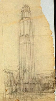 Hugh Ferriss, The Metropolis of Tomorrow (1928) - Hugh Ferriss' architectural sketches, 1915-1961