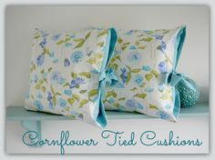 Handmade Tied Pillow Covers in \u0027Cornflower\u0027 fabric by Lillyblossom · Handmade Pillow CoversHandmade PillowsCushion CoversSewing PatternsTo ...