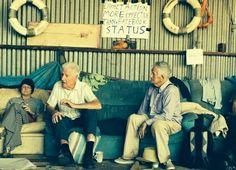 Je bent nooit te oud: actievoerder van 92 Bill Ryan at the blockade.