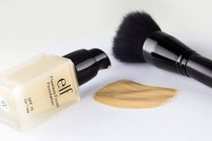 """elf Flawless Finish Foundation / I love Dior Nude, but this really is a good option.  Doesn't sink in """"lines"""" and has great coverage.  Target $6."""