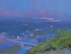 Landscape Painting Bridge 60x70, oil on canvas, 2014 | Картина пейзаж річки Івано-Франківськ, Юрій Писар