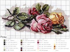 Розы. Много схем для вышивки крестом