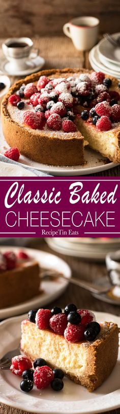 Classic Baked Cheesecake | No contest, this is the BEST Cheesecake I have ever made