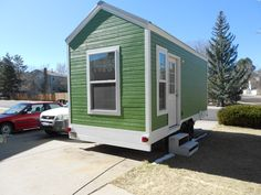 A 156 square feet tiny house on wheels in Morrision, Colorado. Built by Tiny Diamond Homes.