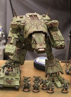 Army Undecided: How to assemble a Chaos Warhound Titan - A one stop content guide