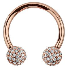 The ultimate in luxury body jewelry, this circular barbell is made of high quality rose gold and features a ball covered in an astounding number of Daith Piercing Jewelry, Eyebrow Jewelry, Tragus Earrings, Body Jewelry, Cartilage Stud, Stud Earring, Septum, Tongue Piercings, Cartilage Piercings